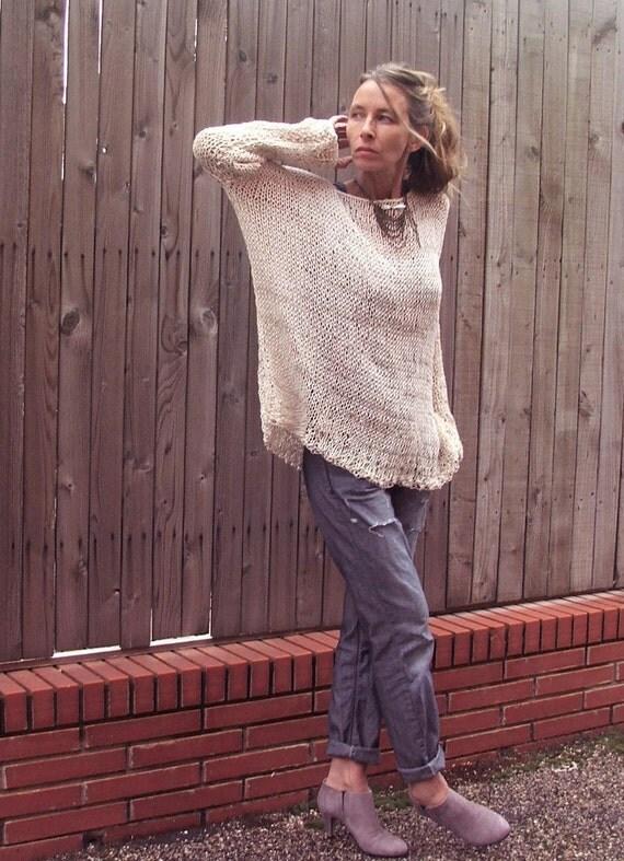 iLEAiYE Easy breezy weekend sweater LAST ONE in this yarn