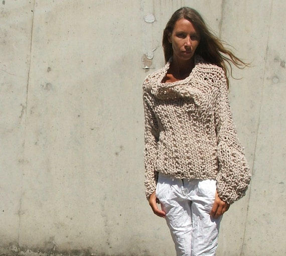 Soft stone beige chunky sweater 2 left in this SHADE