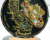 Vintage California Disney souvenir tray