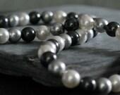 Tri-color Swarovski Crystal Pearls and Silver - Peerli Necklace