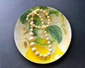 Lemon Yellow Botanical Decoupage Plate
