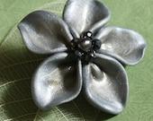 Pewter Gray Flower Pin