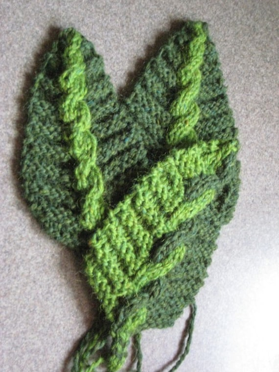 Knit Cable Co-existence Leaf PDF Pattern