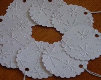 Christmas Gift Tags-Snowflake-Handmade-Tags-Christmas