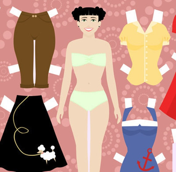 SALE - Printable Paper Dolls by Artist Amber Delaine