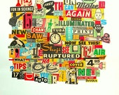 Typography collage Print