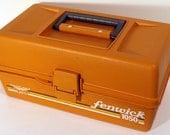 Vintage Retro 1986 Orange Fenwick 1050 Fishing Tackle Craft Storage Box