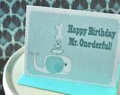 Happy Birthday Mister Onederful Card