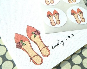 Pretty Shoes Personalized Stationery and Sticker Gift Set
