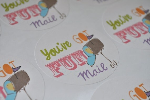 Packaging stickers for your mail You've Got Fun Mail Stickers
