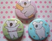 3 x Koalas Badges