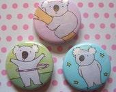 RESERVED FOR LOU - 12 x Koalas Badges