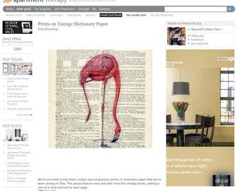 Flamingo III print on Apartment Therapy