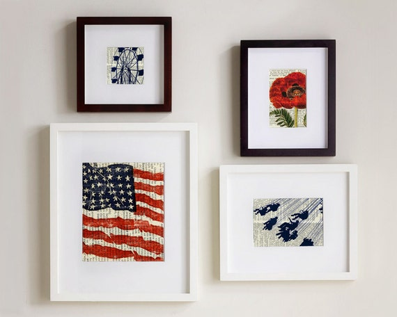 Set of Four Prints, Home in the USA