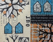 Original Mixed Media Abstract Collage Art - Little Shanty