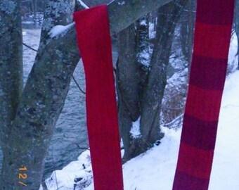 red skinny scarf