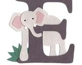 SAMPLE SALE- E is for Elephant Nursery Wall Art
