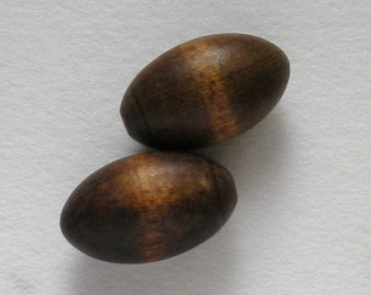 Vintage Wooden Buttons - Huge - Set of Two