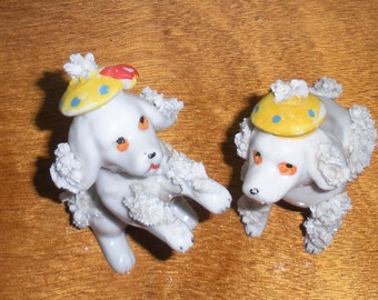 Ceramic French Poodles