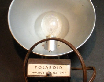 Vintage Polaroid Camera Flash Attachment With Bulb