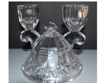 Vintage Imperial Glass Candle Holders Candle Sticks Candleabra