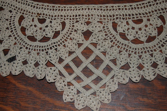 Hand Crocheted Tablecloth Edging