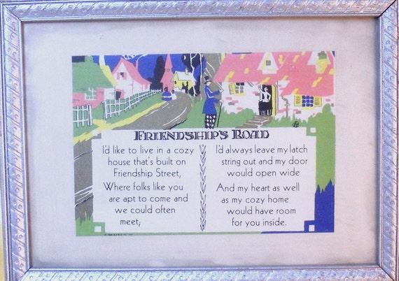 Framed Poem Friendships Road