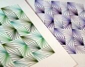 Hand-Sewn geometric card