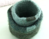 Felted Nesting Bowls - Green Set of Two