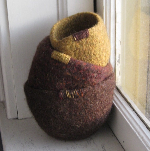 Felted Nesting Bowls - Fall Colors