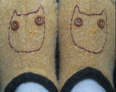 Owlet felted slippers (RESERVED) //
