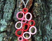 Red, Pink, and a Whole Lotta Love Balloon Pendant - Deflated Design