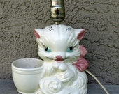 Vintage Cat Lamp from McCoy Pottery Planter