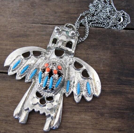 Vintage Necklace Native American Bird Man