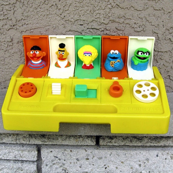 Vintage Sesame Street Toy Playskool Poppin Pals