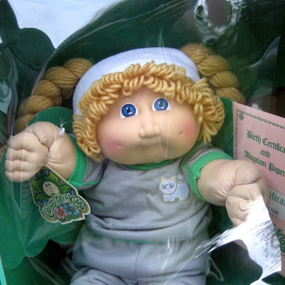 Vintage Cabbage Patch Doll in Box 1985 Allison Lexie