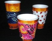 Sew Ez PDF Sewing Instructions Pattern To Make REVERSIBLE Coffee Cup Covers/Sleeves/Jackets