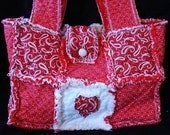 Sew Ez PDF Sewing Instructions Pattern To Make Rag Quilt Purse/ Tote/ Diaper Bags