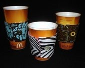 Sew Ez PDF Sewing Instructions Pattern To Make ADJUSTABLE Coffee Cup Cozy Covers/ Koozie/ Sleeve/ Java Jacket