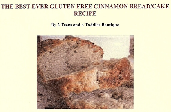 AWESOME GLUTEN FREE CINNAMON BREAD\/ CAKE RECIPE- FREE SHIPPING VIA ...