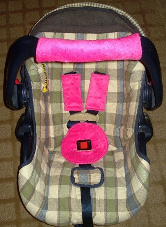 Car Seat 4 Piece Set Belly Pad Strap And Handle Covers