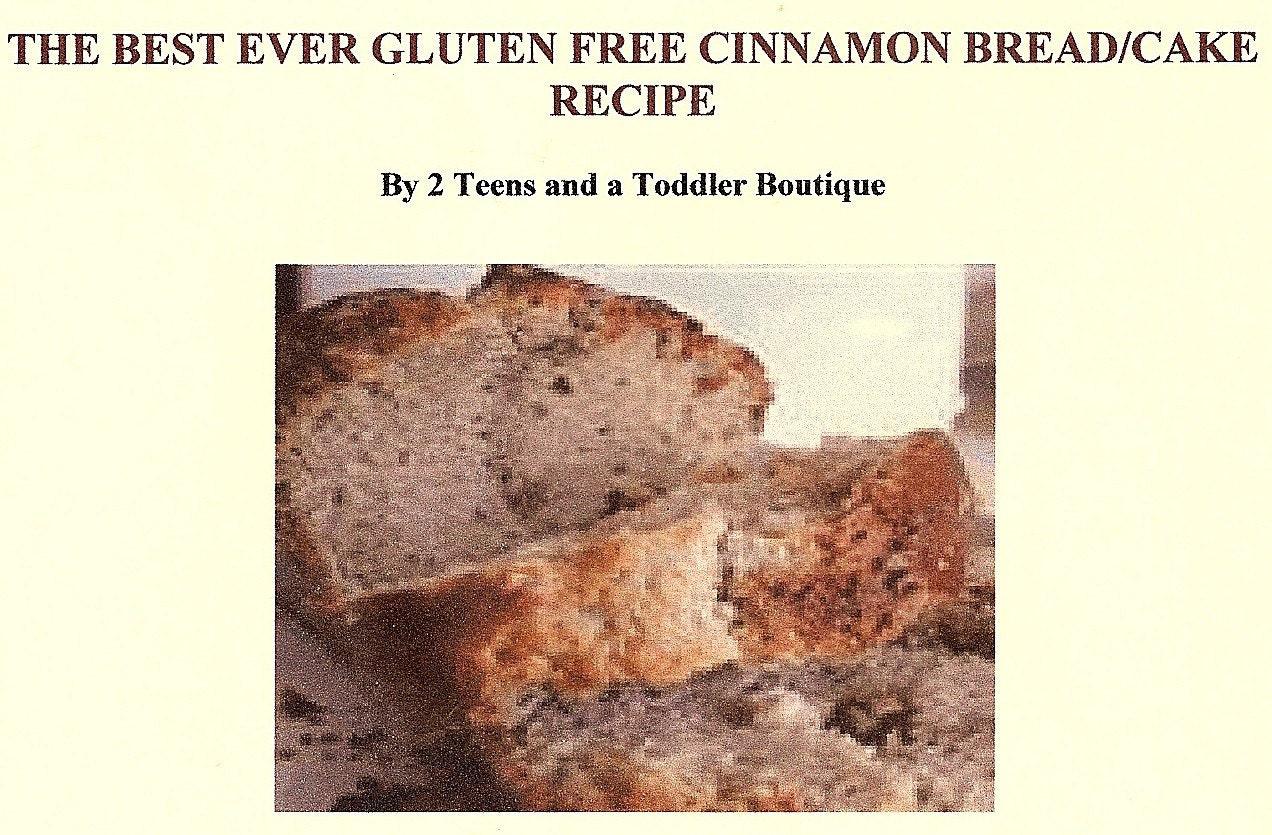 AWESOME GLUTEN FREE CINNAMON BREAD/ CAKE von 2TeensandaToddler