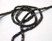 Black spinel 2mm 14 inch strand