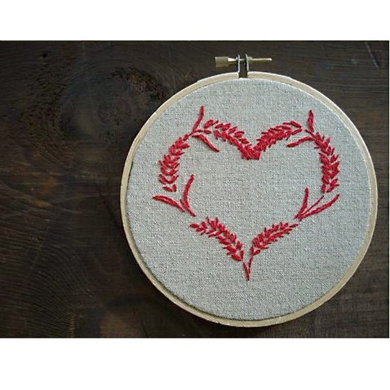 heart embroidery - a valentine