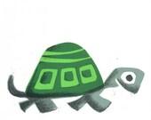 Movin' On Turtle Screen Print by Print Mafia
