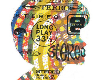 Famous Stereo Screen Print by Print Mafia - Tribute to Vinyl Records