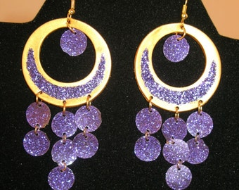 Sparkly belly dance earrings