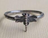 Tiny Dragonfly Ring
