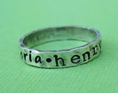 Hand Stamped Sterling Silver Ring