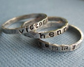 Three Tiny Personalized Stacking Rings
